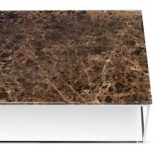 modern cocktail tables gleam brown marble chrome long modern coffee table