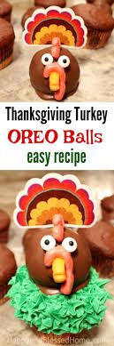 thanksgiving turkey oreo balls recipe happy and blessed home
