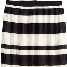 60 off h u0026m dresses u0026 skirts h u0026m black and white striped pleated