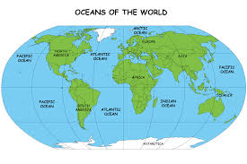 map with oceans all about oceans of the earth science facts for a