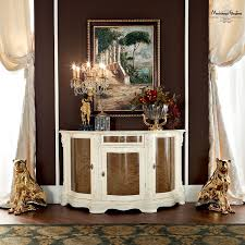 classical dining room with ivory furniture enriched with briar