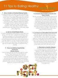 11 tips to eating healthy 1 eat a variety of nutrient dense foods