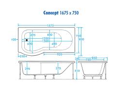 L Shaped Shower Bath Whirlpool Trojan Concept Shower Bath P Shaped Bathshop321