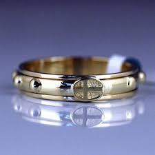 catholic rosary ring 14k solid gold rosary ring ga0283r 2 7gram catholic jewelry by