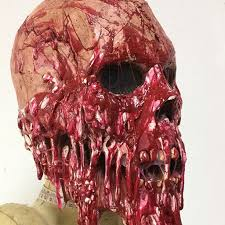 bloody face horror corpse scary halloween mask costume for adults