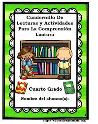 libros para leer de cuarto grado cuadernillo de lecturas y actividades para la comprensión lectora
