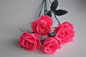 crepe paper rose step by step diy youtube