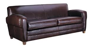 Art Deco Furniture Designers by Paris Art Deco Low Profile Italian Leather Sofa With Two Seats