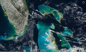 Satellite Map Of Florida by The Bahamas Modis True Color And Modis Sea Surface Temperature