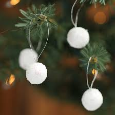 miniature iridescent glitter snowball ornaments