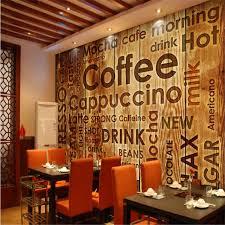wallpaper coffee design beibehang custom nonwovens wallpaper coffee shop english letter
