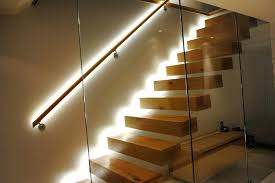 Floating Stairs Design Led Step Lighting Cinema Floating Staircase Architecture With