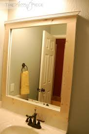 framed bathroom mirrors diy bathroom frame bathroom mirror new framed bathroom mirror diy