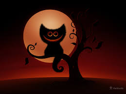 halloween background 1280x720 a cheshire kitten halloween night desktop wallpapers vladstudio