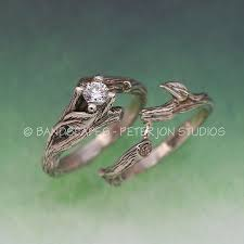 tree branch engagement ring acadia wedding ring set twig engagement ring matching