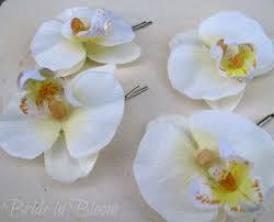 wedding hair pins wedding hair accessories white orchid bridal hair pins in