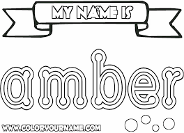 my name coloring pages printable name coloring pages amber