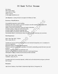 bank teller resume with no experience httpwwwresumecareer head