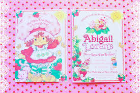 2nd Birthday Invitation Card Vintage Strawberry Shortcake 1st Birthday Party Minted And
