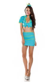 pin up girl costume 2017 bedroom blue stewardess pilot pin up girl