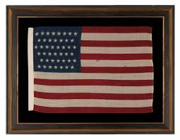 Use Flag Jeff Bridgman Antique Flags And Painted Furniture 44 Stars In