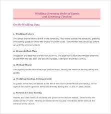 16 wedding order of service templates u2013 free sample example