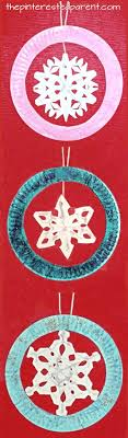 paper plate snowflake ornaments for the winter