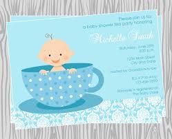 diy baby boy tea party baby shower invitation coordinating