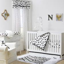 White Crib Set Bedding Theme Clouds