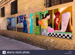 san francisco chinatown mural stock photos san francisco chinatown ross alley murals san francisco stock image