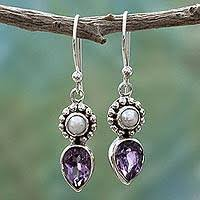 amethyst earrings amethyst earrings unique amethyst earrings at novica