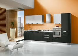 couleur de cuisine mur cuisine avec mur orange idées décoration intérieure farik us