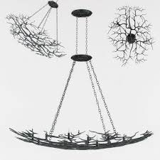 Currey And Company Lighting Currey And Company Rainforest Chandelier Lighting 3d Model Max