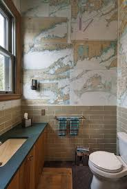 bathroom wallpaper designs craft your style decoupage and decorate with custom wallpaper