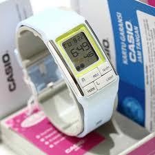 Jam Tangan Casio Karet casio poptone jam tangan wanita hitam pink karet ldf 52 update