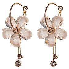 korean earings korean jewellery white hoop earrings manufacturer