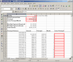 Amortization Table With Extra Payments Mortgage Amortization Spreadsheet