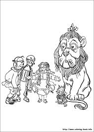 wizard of oz coloring picture