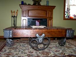 Industrial Cart Coffee Table Southern Re Creations Antique Factory Cart Coffee Table 101001