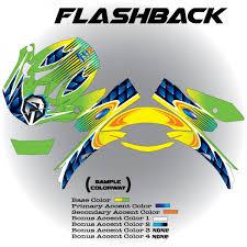 custom motocross helmet wraps flashback shoei armored graphix