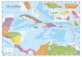 World Map Caribbean by Mapsherpa Oxford Cartographers