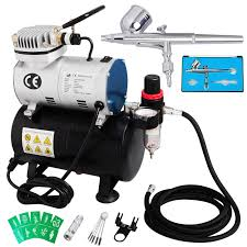 voilamart dual action airbrush spray gun 1 6hp compressor kit