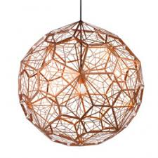 Stainless Steel Pendant Light Fittings Replica Tom Dixon Etch Light Web Copper Pendant Light Large