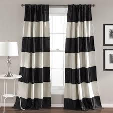 montego stripe window curtain set