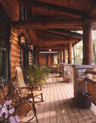Breathtaking Large Wrought Iron Wall Decor Breathtaking Log Cabin Design Using Wooden Porch Pillars Including