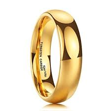 wedding gold rings king will 6mm 24k gold plated high polished