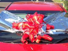 bows for cars presents balloons balloons