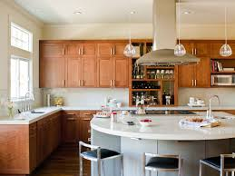 Kitchen Island Countertop Overhang Cherry Kitchen Cabinets With White Island Titandish Decoration