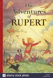 1930s uk rupert bear comic annual cover stock photo royalty free
