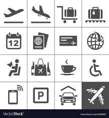 travel icons images Universal airport and air travel icons royalty free vector jpg